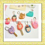 unique design durable 2013 fashion soft pvc personalized novel key head cover