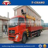 china hot sale 12 tons small portable crane for truck manual handle control with ISO9001