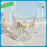 Famous Brand Beer Handle Beer Cups Advertising Decorative Gift FDA Grade Beer Glass Mugs Short Small Size Mahou Handle Glasses