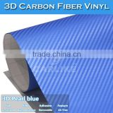 Wholesale / Bulk Removable Gule Car Vinyl Film 3D Colored Carbon Fiber