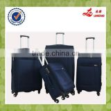 Black and Blue China Luggage Supplier Stock Luggage Fabric Suitcase Non Woven Bag