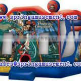 pirates of the caribbean Inflatable combo, inflatable bouncer with slide, inflatable toys