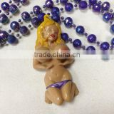 Bobble Medallion Beads - Nude Girl