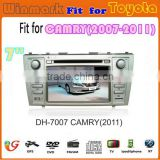 DH7007 hd touch screen auto accessories car multimedia with radio dvd player with gps navigation for Toyota Camry 2007-2011