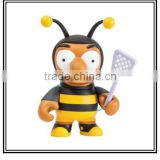 High quality Cartoon Bee Human Figure Vinyl Toy/Customized Cartoon Animals PVC Vinyl Toy For Sale/Made Design Plastic Vinyl Toys
