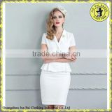 Short sleeves Elegant Beatiful Pure color Women's Suit                                                                         Quality Choice