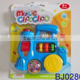 Happy baby toy musical plastic cartoon toy flashing vintage train toy