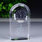 K9 Crystal any Shape Crystal Clock For office Decoration