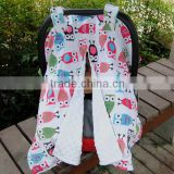 100% Polyester Antipilling Double Sides Car Seat Canopy Minky Baby Tent Cover