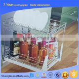 Best price hot dish drainer pull out basket, pull out wire baskets, kitchen metal storage rack