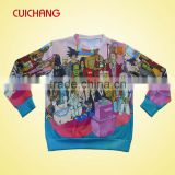Custom sublimation sweatshirt & crewneck swaetshirts&cheap sweat shirt&oem sweatshirts for men's & women's