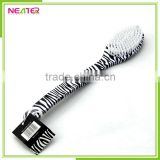 plastic long handle bath shower brush, back wash brush