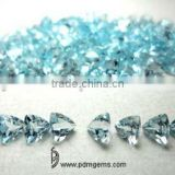 Sky Blue Topaz Semi Precious Gemstone Trillion Faceted For Diamond Jewellery From Manufacturer/Wholesaler