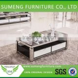 Factory direct sale square stone marble top coffee tables for living room                                                                         Quality Choice