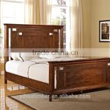 best quality comfortable australian wooden bed / solid wood bed high headboard carved bed