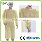 White Nonwoven Disposable Medical Waterproof Lab Coat