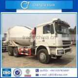 New condition euro 4 emission standard customized Q345/16Mn 6x4 Shaanxi Auto/Shacman 8cbm 9cbm 10cbm 12 cbm concrete mixer truck