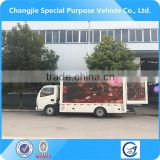 Hot selling high quality P10 screen outdoor full color led mobile stage truck for sale,mobile led truck