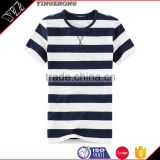 wholesale clothing high quality 100%cotton o neck stripes tshirts bulk with Chian clothes factory                                                                                                         Supplier's Choice