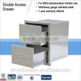 Outdoor kitchen island parts double drawer