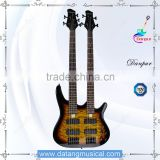 5 strings and 4 strings electric bass guitar double neck