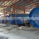 100 TPD capacity of waste tire recycling machine to fuel oil ,carbon black and steel wire .