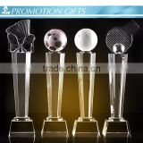 football crystal trophy with 3D laser