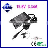 65W 19.5V 3.34A laptop adapter with 7.4*5.0mm connector power supply for Dell PA-12 M20 M60 notebook charger