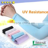 UV Resistant Polyester Spandex Arm Sleeve Pure Color