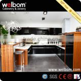 High Gloss Black Kitchen Cabinet