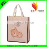 2016 Eco Friendly Customized Logo Branded Promotional Eco Friendly Shopping Non Woven Panda Bag