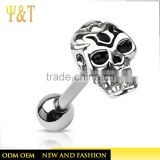 2016 Latest stainless steel skull navel body piercing jewelry rings from china supplier