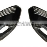 Carbon Fiber Exhaust Cover Gold Mesh