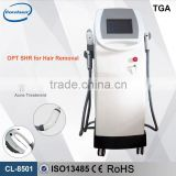 560-1200nm E-LIGHT IPL+RF&BIG SPOT IPL HAND PIECE 1-50J/cm2 /IPL+SHR Hair Removal Machine For Beauty Salon