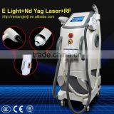 Clinic Popular! E-light Ipl Laser Machine Cold Vascular Treatment Treatment/nd Yag Laser E Light Rf Machine Price Shrink Trichopore