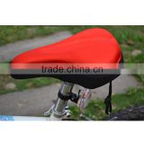 Red Cycling Bike Bicycle Soft Silicone Thick Black Saddle Seat Cover Cushion Pad