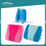 New design portable colour stitching back support cushion pillow, soft foldable memory foam back pillow