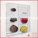 Large Wall Mounted Acrylic Glass Clear Presentation Showcase Case for Rocks - Minerals - Fossils - Shells - Stones-Model Cars