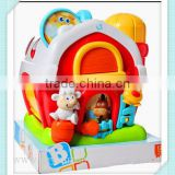 baby kids activity farm house from dongguan icti factory high quality roler plasy farm house toy for kids