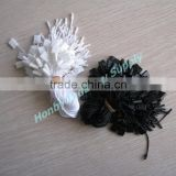 Plastic White and Black Permanent Apparel Hang Tag Rope