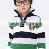 2015 boys sweater knit for kids,boys sweaters 2015,Green and black and white striped sweater