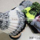 Fashion most popular 100%acrylic crochet knitted stripe hot cap for winter in stock now!