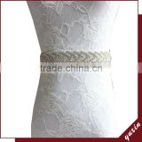 YXBB67 Rhinestone trim for wedding belt With Diamond Sashes Rhinestone Bridal Belts Bead Sash
