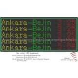 bus led display board for showing destination and route number
