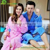 Solid color soft coral bright color terry bathrobe 100% cotton hotel Bathrobe custom size robes organic bathrobe