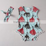 baby clothing wholesale ladies print import baby romper toddler boutique child romper for girls