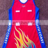 Sublimated Sports Micromesh Netball Dress,Netball dress for girls,Australian team wear netball jersey
