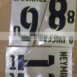 14/15 wholesale name and number stickers on soccer jerseys film football jersey thailand quality t-shirt heat transfer sticker
