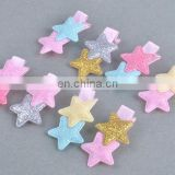 Double Glitter Star Barrettes Baby Alligator Clip Pigtail Bows For Baby Girl