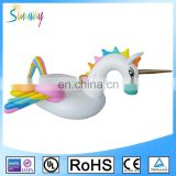 2017 Newest Outdoor Swimming Beautiful Rainbow Wings Pegasus Pool Float Toy , Giant Multicolor Inflatable Pegasus